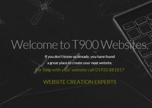 T900 Websites advertisement